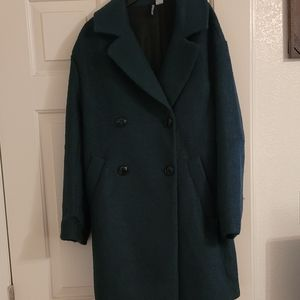 Forest green peacoat